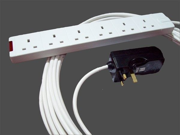 20m Standard Six Way Extension Lead With Rcd Protection