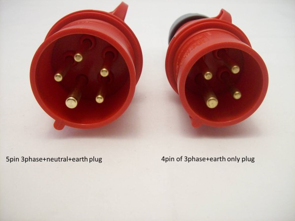 5pin 4pin 3 phase plugs industrial extension leads plug & connector types explained 5 pin 3 phase plug wiring diagram at edmiracle.co